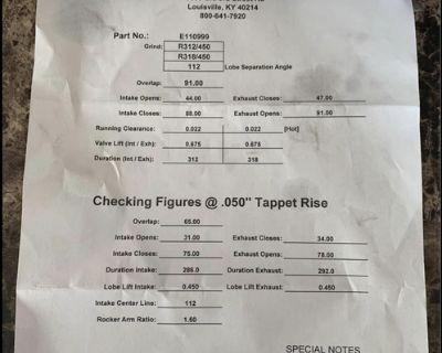 112 center line Nitrous Cam