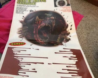 Halloween Toliet Seat Monster/Ghoul Decal. New