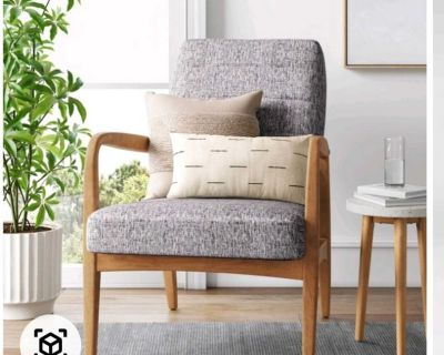 Set of 2 Northway Channel Tufted wood armchair