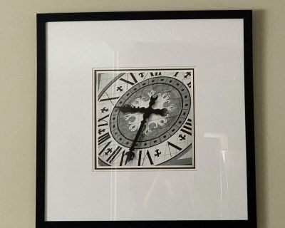 3 x Pieces of Time by Tony Koukos, Framed Clock Pictures