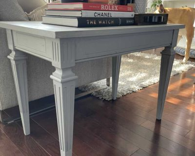 Rustic solid wood side table, coffee table.