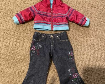 American girl doll jacket and jeans