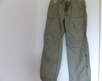 GAP cotton hiking pants size 10 adjustable cuffs, length 3 levels and waist