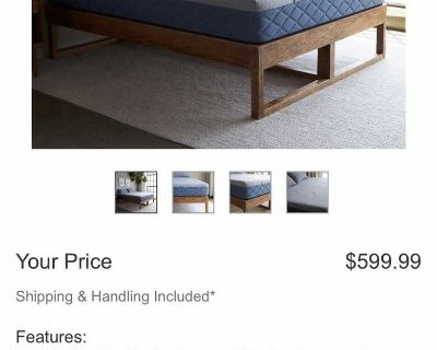 New In Box Brentwood Home Queen Bed Mattress