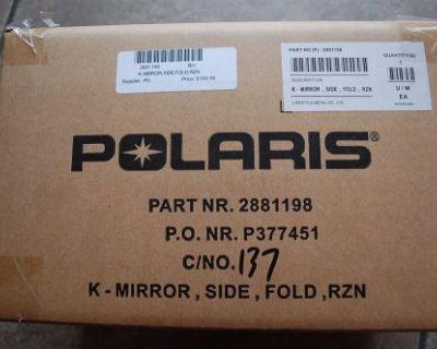 2881198 Polaris Utv Mirrors Kit Rzr Off-road Pure Polaris Oem Nib