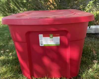 Red Storage Tote