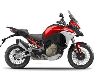 2022 Ducati Multistrada V4S Ducati Red / Spoked Wheels