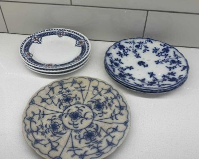 Variety of England made plates