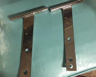 Chrome T bumper bars - front