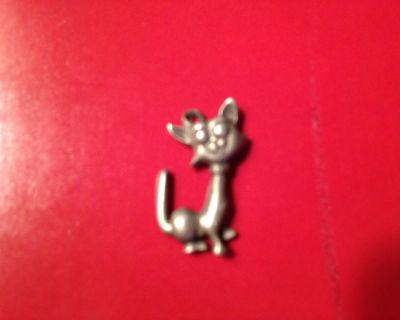 Pewter Cat Charm