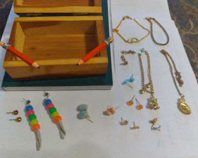 Mixed Lot of Pre-owned Earrings, Bracelets and Necklace