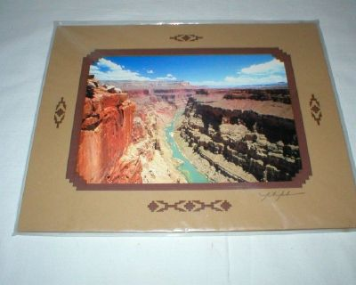 Grand Canyon Color Print w/Double Mat - Signed JA Johnson - Unframed