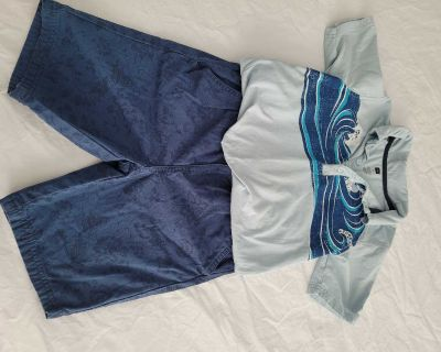 Tea Collection Shorts and Polo - Size 10 and 12