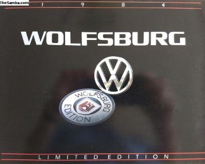 1984 Wolfsburg Volkswagen line up brochure