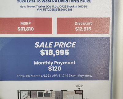 2020 East To West Della Terra 230RB