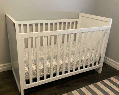 Baby relax miles 2 in 1 convertible crib and matching 6 drawer dresser