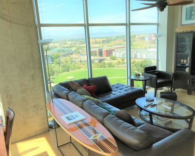 Glass-Walled Luxury w/ Views of City, Mtns, River, Gym, Security - LoDo