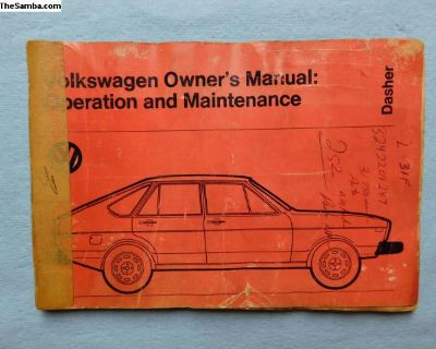 used 1974 Dasher owners manual