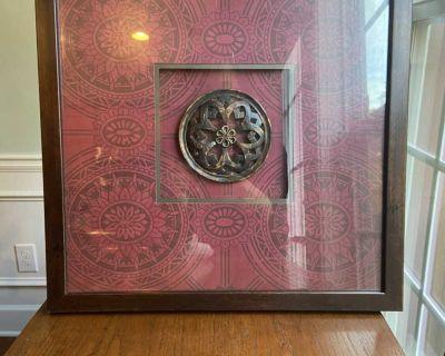 Framed Red Decorative