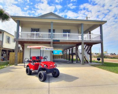 Shamrock by the Sea: Boardwalk to Beach, PRIVATE POOL, Free Golf Cart. 10 Guests - Port Aransas