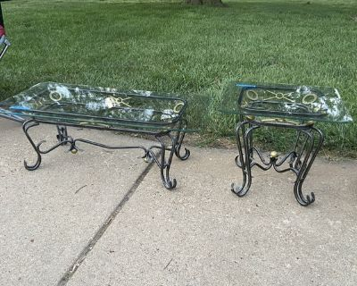 Glass End Table and Coffee Table