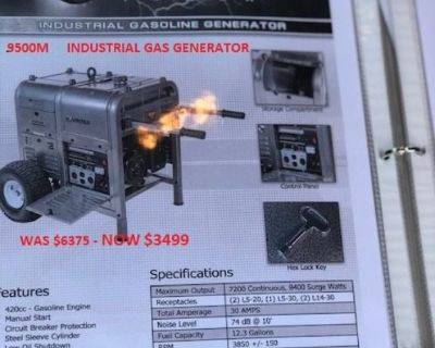 Commercial Gas Generator