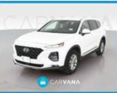 2019 Hyundai Santa Fe White, 18K miles
