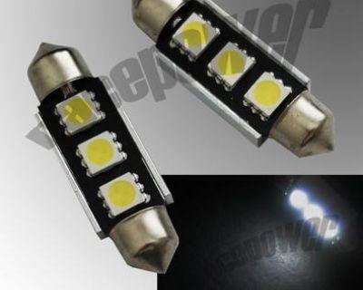 39mm Led 3 Smd 5050 Canbus No-error C5w 239 White Festoon Light Bulbs