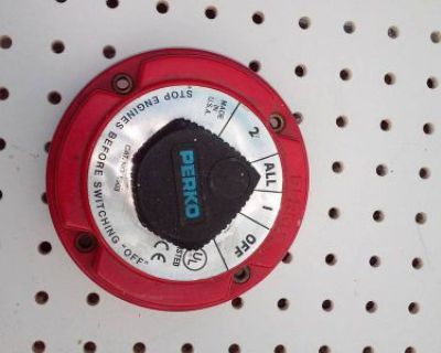 New Perko Switch , Boat / Marine 4 Position Duel Battery Selector Switch
