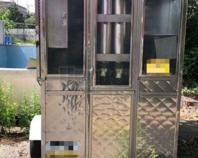 2005 - 4' x 8' Compact All Stainless Steel Food Concession Trailer