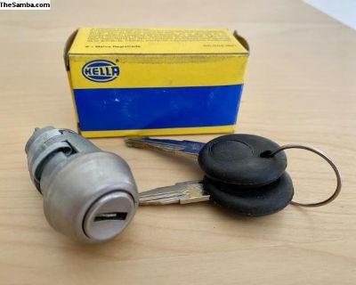 VW Hella Ignition Lock Cylinder 71-98 Bug Ghia T3