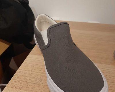 Hollister grey slip on shoes