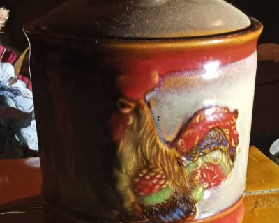 Small Rooster Jar
