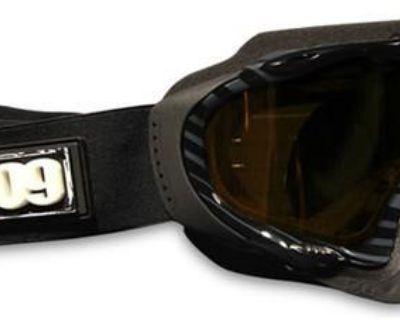 509 Sinister Snowmobile Snowboard Ski Goggles Whiteout W/ Polarized Yellow Lens