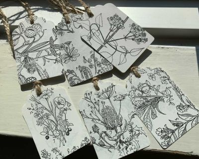 Handmade Floral Gift Tags from Book Pages