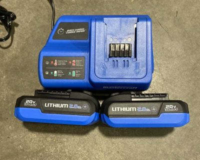 Mastercraft 20v batteries and quick charger