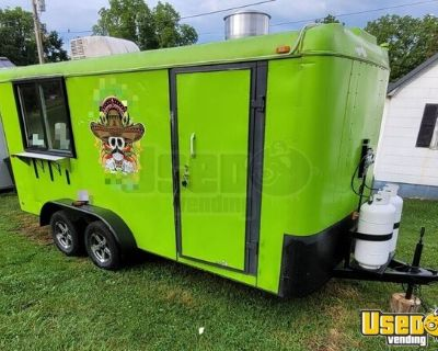 7' x 16' 2020 Custom Concession Food Trailer with Color Change Lighting for sale in Tennessee!