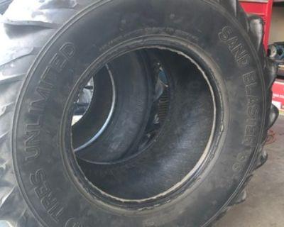 Used 36-17 Sand Tires Unlimited Sand Blaster II Paddles