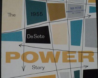 1955 Desoto Power Story Fireflite V8 Firedome V8 Dealer Sales Brochure
