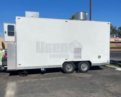 2019 - 16' Mobile Kitchen Food Trailer with Pro-Fire Suppression