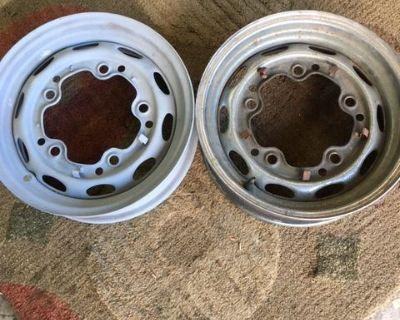 Two Lemmerz wheels dated 10/62, 10/62