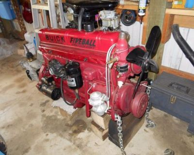 Buick Straight 8 Motor And 5 Speed Trans Complete Rebuilt