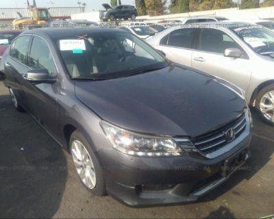 Salvage Gray 2014 Honda Accord Sedan