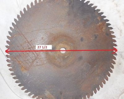 Large vintage sawmill/buzz saw blades { 2 of them }