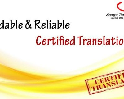 Affordable & Reliable Certified Translation