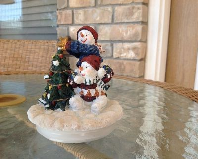 Christmas candle topper