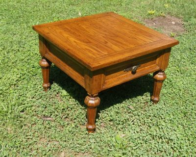 Solid Wood Side Table with One (1) Drawer