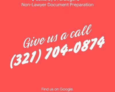 Paralegal/legal document preparation/Non-lawyer document/divorce/family law