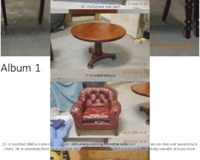 1840 English mahogany furniture & well-worn James Reid itrems