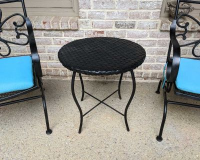 Patio table used on covered porch, could be used inside